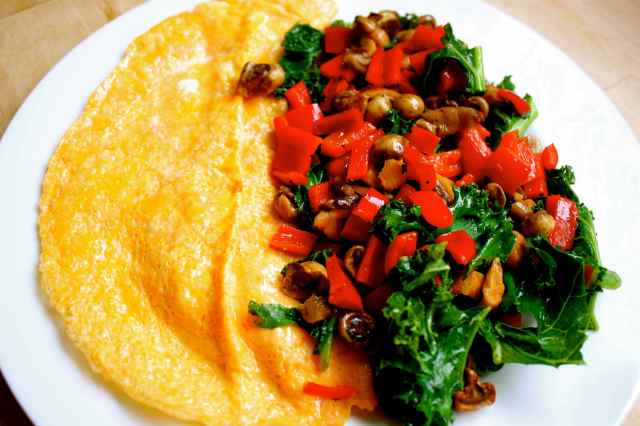 omelette and veggies 24-5-13