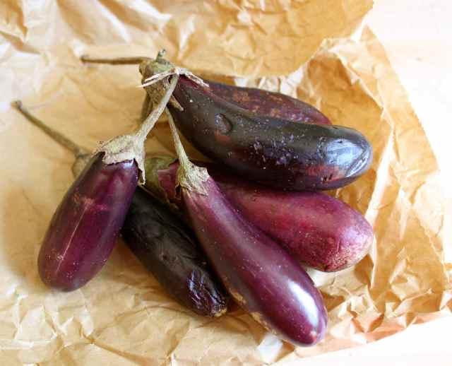 small aubergines