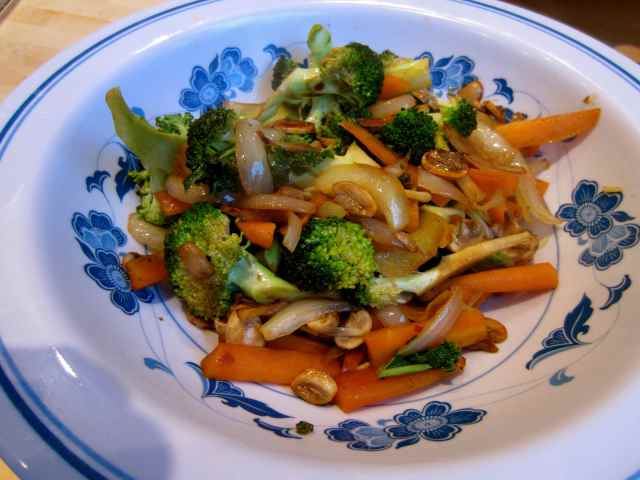 Stir fried veg 17-5-13
