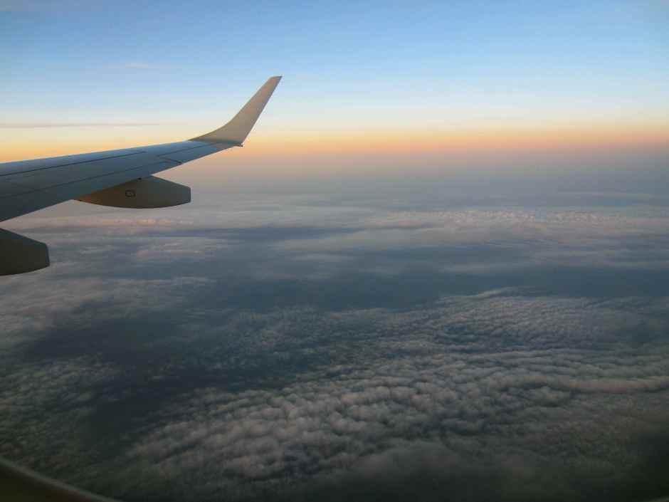 Sunset on way to Glasgow