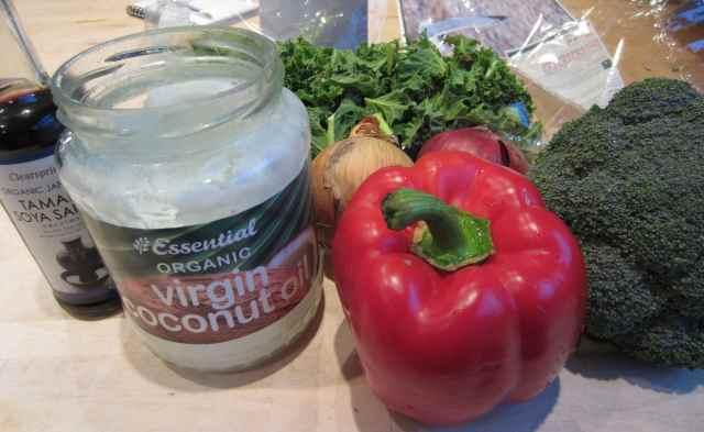 veg and coconut oil