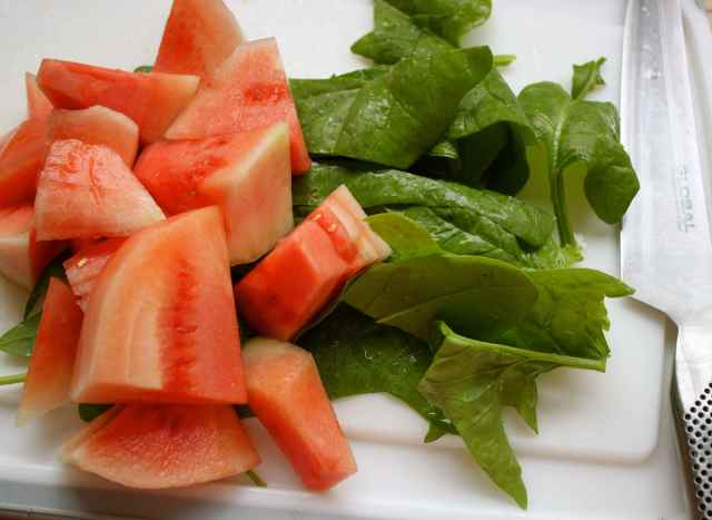 watermelon and spinach
