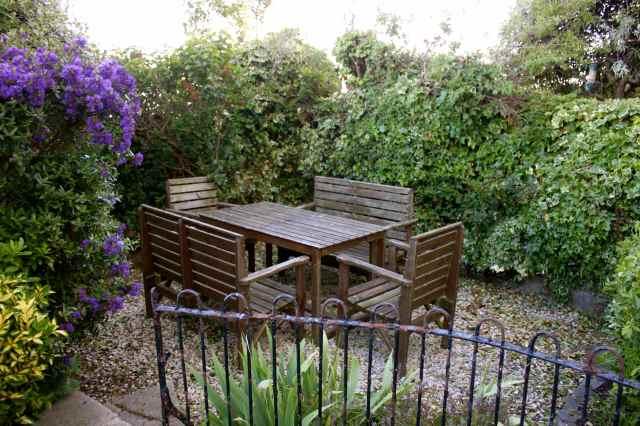 Cleared garden