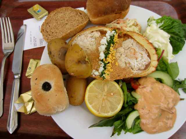 Dressed crab salad