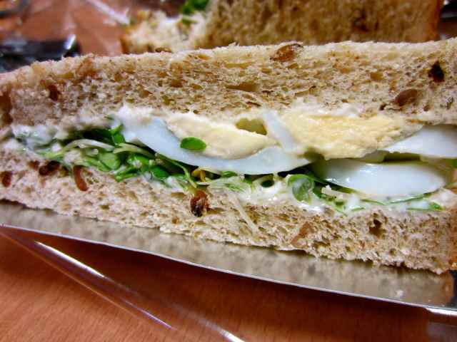 egg and cress sandwich