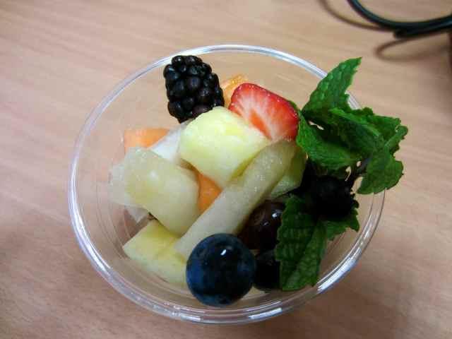 Fruit on granola