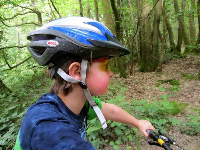 Harvey in cycle helmet