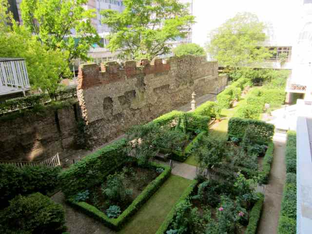 London Wall and garden