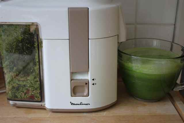 making the green juice