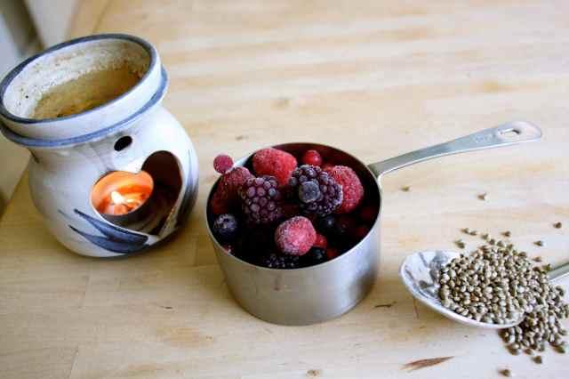 oil burner berries and seeds