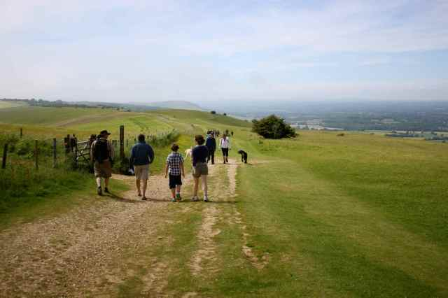 setting off on the South Downs way
