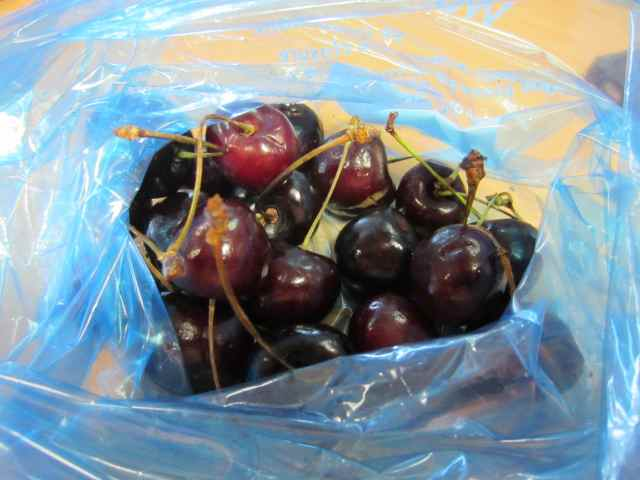 cherries in bag