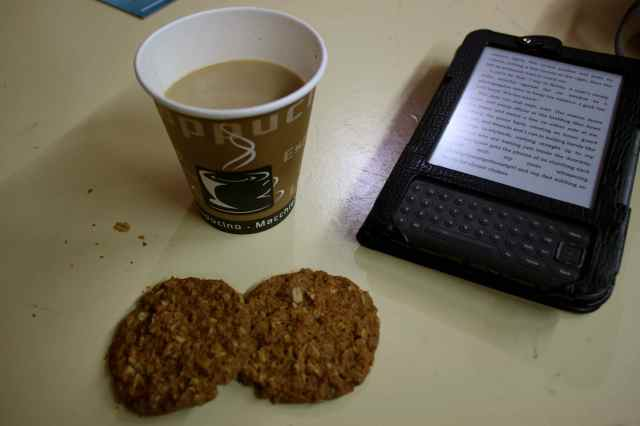 coffee and Anzac biscuits
