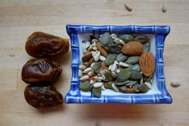 dates and nuts and seeds