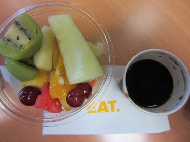 EAT fruit and coffee