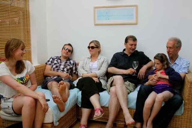 Family relaxing