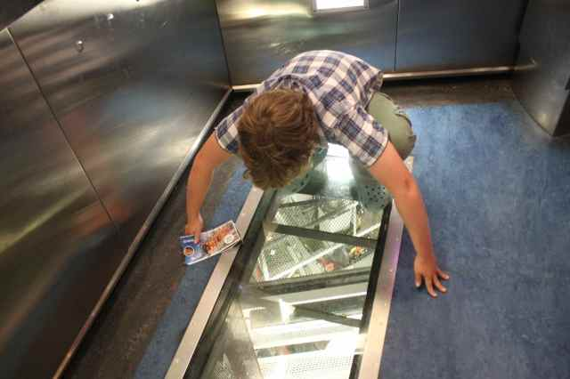 Glass bottomed lift