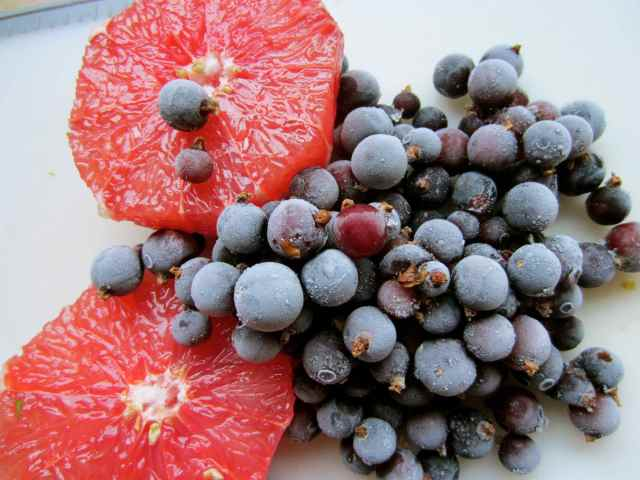 grapefruit and blackcurrants