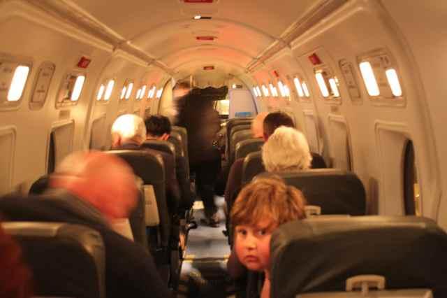 Harvey on plane