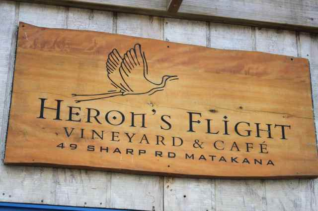 Heron's Flight sign