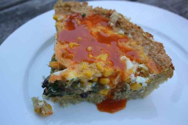 kale, mushroom and quinoa frittata