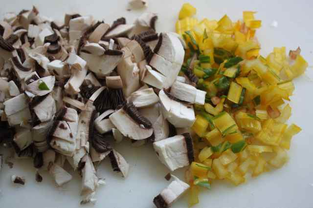 mushrooms and yellow stalks