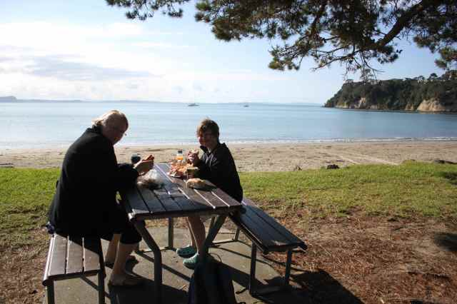 picnic at Stanmore Bay