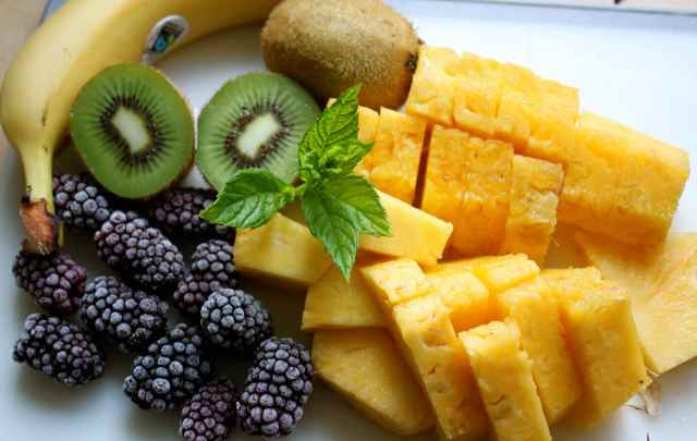 pineapple and fruit