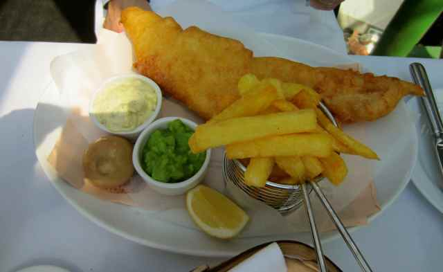 Roast fish and chips