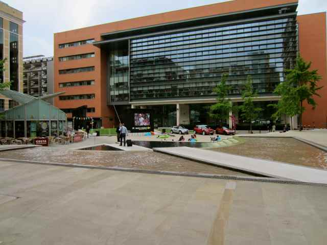 Screen in Brindley Place