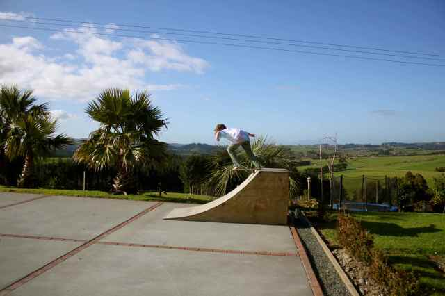 skateboarding in Matakana