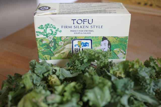 tofu and kale