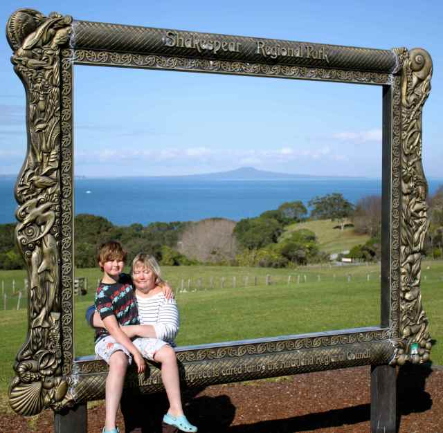Z and H on picture frame