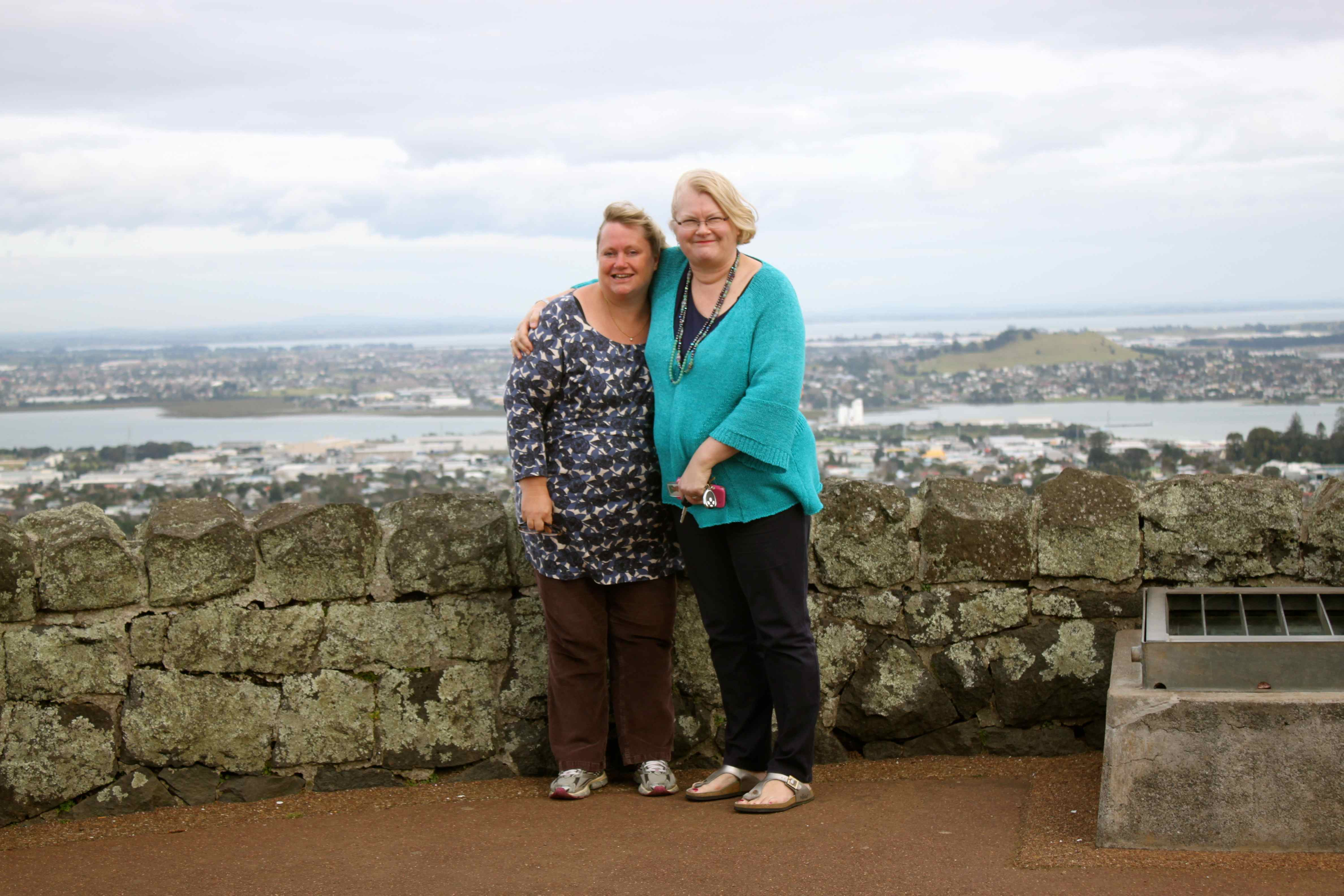 After the museum we drove up to One Tree Hill in the Cornwall park and ...