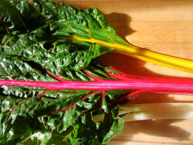 3 Swiss Chard leaves
