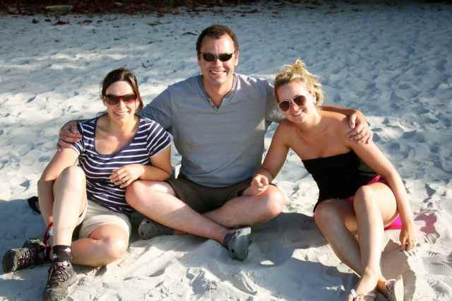 BJ, H and Lara at Cape Trib