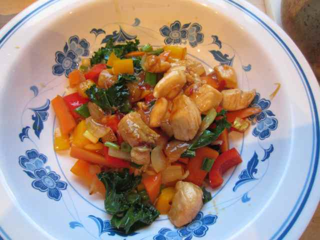 Chicken, veg and rice