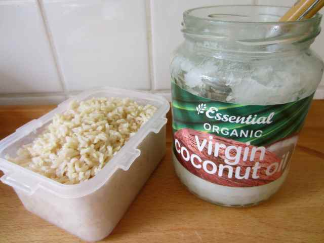 coconut oil and basmati