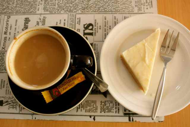 coffee and lemon slice