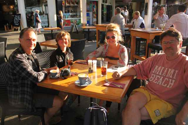 coffee at Mooloolaba