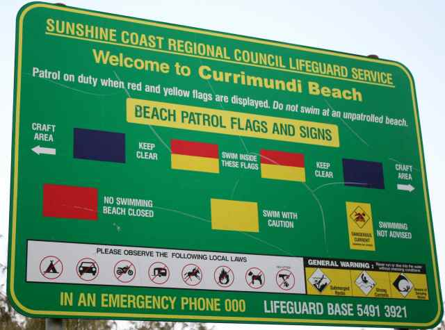 Currimundi Beach sign