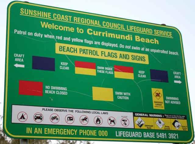 Currimundi Beach sign