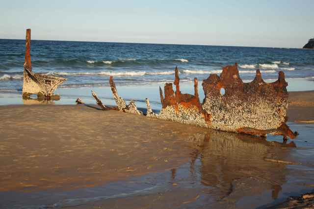 Dicky Beach wreck 1
