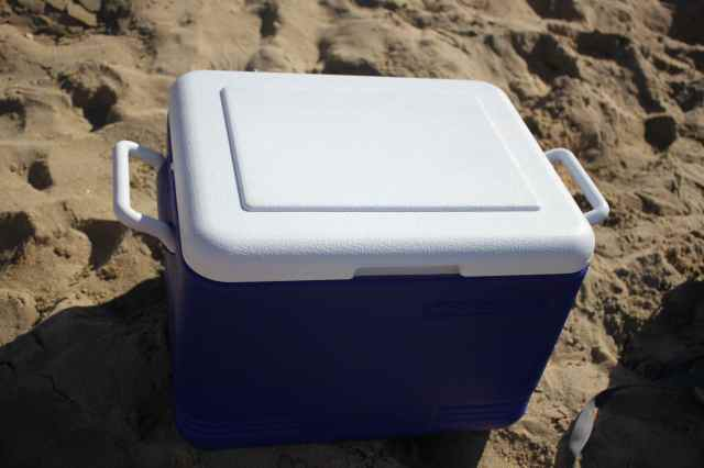 Esky in sand