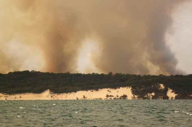 Fraser Island burning