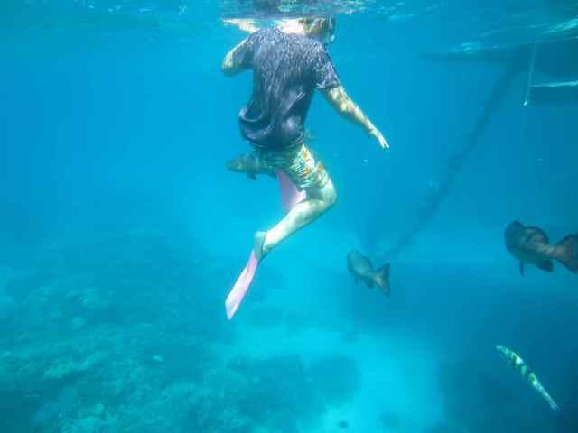 H snorkelling