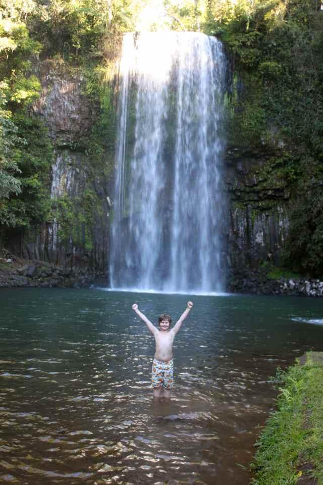Harvey in Millaa Millaa Falls
