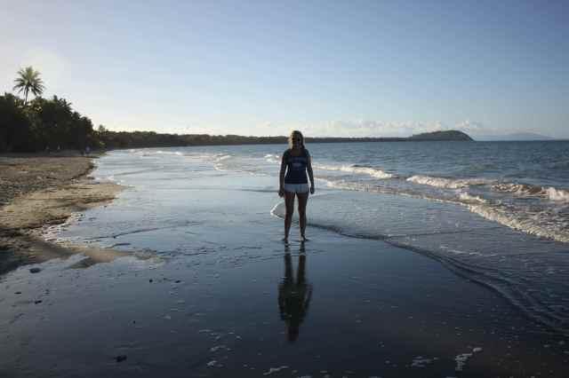 Lara on beach