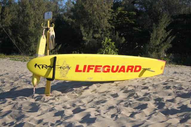 Lifeguard surf board