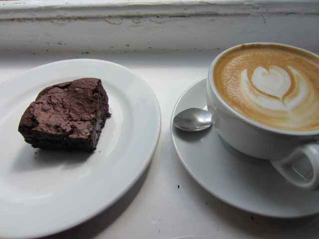 Monmouth coffee and Brownie 1